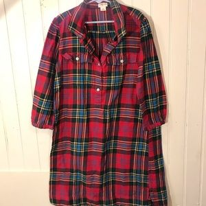 Girls holiday plaid dress from Crewcuts size 10